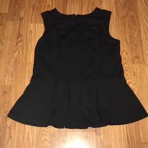 Mossimo Black Top w/ Ruffle Bottom